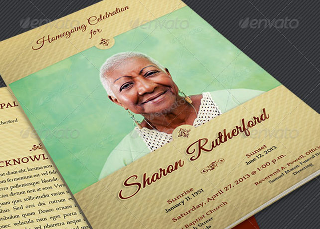 Funeral Flyer Template invitations and wedding rsvp timeline and – Funeral Flyer Template