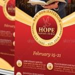 Pastor Anniversary Pop-Up Banner Template