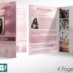 Pink Forever Funeral Program Large Word Publisher Template