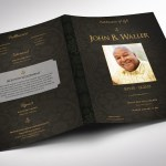 Black Dignity Funeral Program Tabloid Word Publisher Template