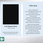 Funeral Prayer Card Default Word Publisher Template