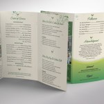 Green Legal Trifold Funeral Program Word Publisher Template