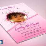 Pink Princess Funeral Program Word Publisher Template