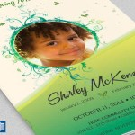 Green Princess Funeral Program Word Publisher Template