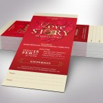 Valentines Love Story Ticket Word Publisher Template
