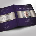 Dignity Funeral Program Word Publisher Tabloid Template