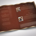 Copper Dignity Tabloid Funeral Program Word Publisher Template
