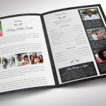 Graystone Tabloid Funeral Program Word Publisher Template