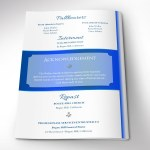 White Blue Funeral Program Word Publisher Template