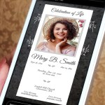 Graystone Funeral Digital Invitation PowerPoint Publisher Template   2 Sizes   1080x1080 Pixels (square) and 1080x1920 Pixels