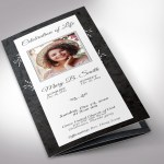 Graystone Trifold Funeral Program Word Publisher Template