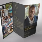 Gold Luxury Trifold Funeral Program Word Publisher Template