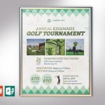 Retro Golf Tournament Poster PowerPoint Publisher Template