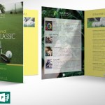 Charity Golf Booklet Word Publisher Template