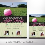 Golf Tournament Party Flyer Word Publisher Template