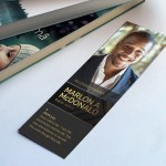 Gold Luxury Funeral Bookmark Word Publisher Template