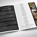 Red Rock Tabloid Funeral Program Word Publisher Template