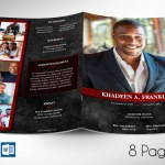 Red Rock Funeral Program Word Publisher Template