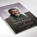 Gray Diamond Funeral Program Word Publisher Template