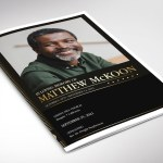 Gold Diamond Funeral Program Word Publisher Template