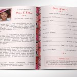 Peachy Hibiscus Funeral Program Word Publisher Template