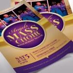 Mass Choir Concert Flyer Word Publisher Template