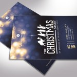 Blue Christmas Story Flyer Word Publisher Template