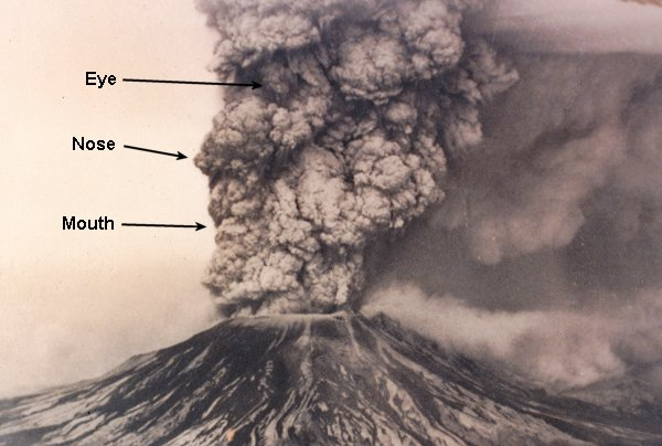 The face in the cloud of Mt. St. Helens