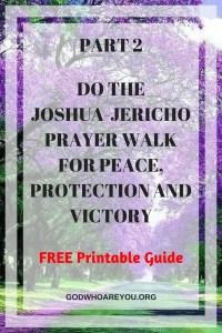 Purple trees wit text overlay: DO JOSHUA JERICHO PRAYERWALKpart 2