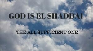 Protectiion of El Shaddai
