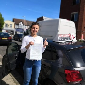 Passed my test with deiving school in east london
