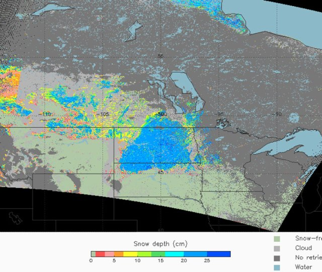 Future Products Snow Depth Over Plains