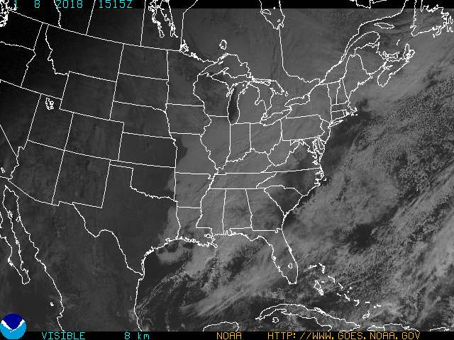 GOES Eastern U.S. Visible Image