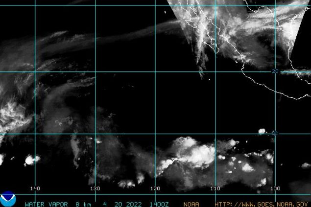 Pacific Tropical Water Vapor GOES West