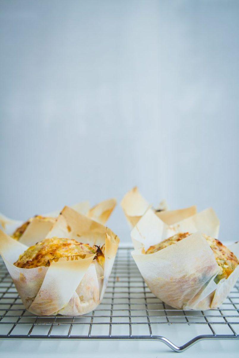 hartige muffins met prei en Meesterlyck ham recept van goestjes