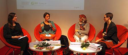 Ulla Lenze, Leila Chammaa, Amal al-Nusairi und Claudia Kramatschek (vlnr) © Goethe-Institut