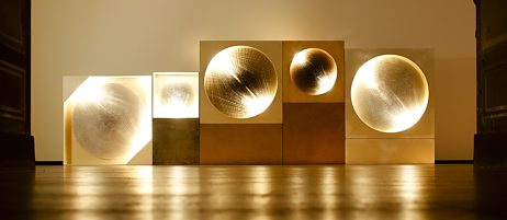 """Kunst à la Zero: """"Kosmische Vision / Lichtscheibe"""" von Günther Uecker."""