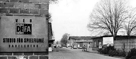Eingangsbereich der Babelsberger Filmstudios in Potsdam: Zu DDR-Zeiten produzierte hier vor allem der volkseigene Betrieb DEFA, die Deutsche Film AG.