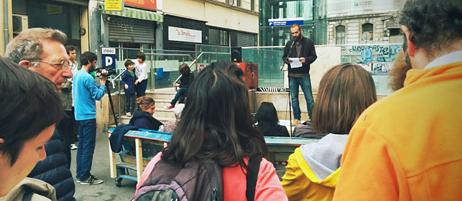 Zivilgesellschaftliche Initiativen : Recht auf Wohnen in der Stadt. Kreativer Protest aus Berlin, Marseille und Barcelona