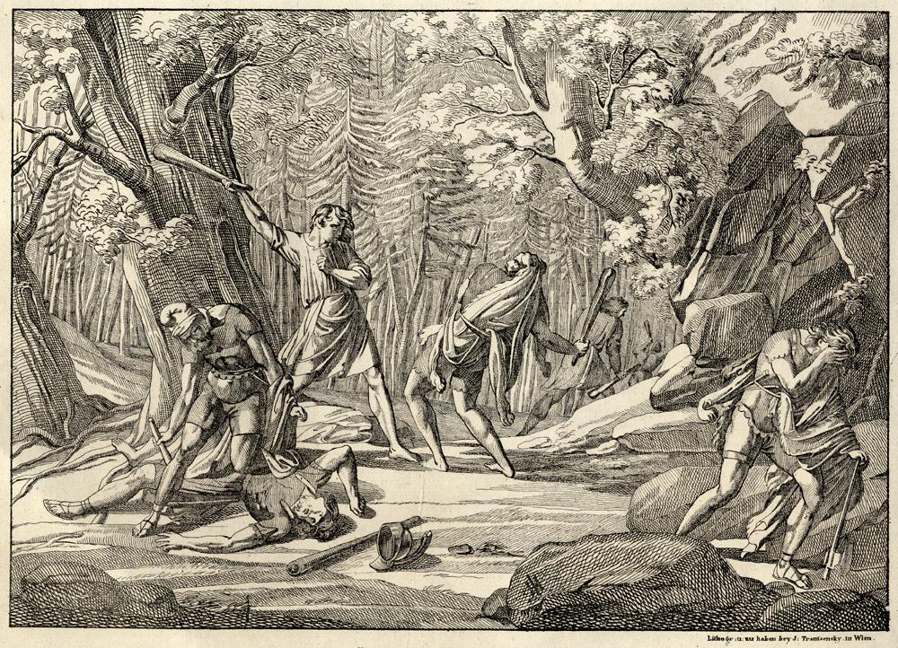 Joseph Trentsensky, Friedrich Schiller, Die Bürgschaft, via Goethezeitportal, Februar 2012