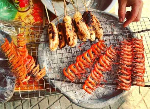 grilled shrimps - ba be national park