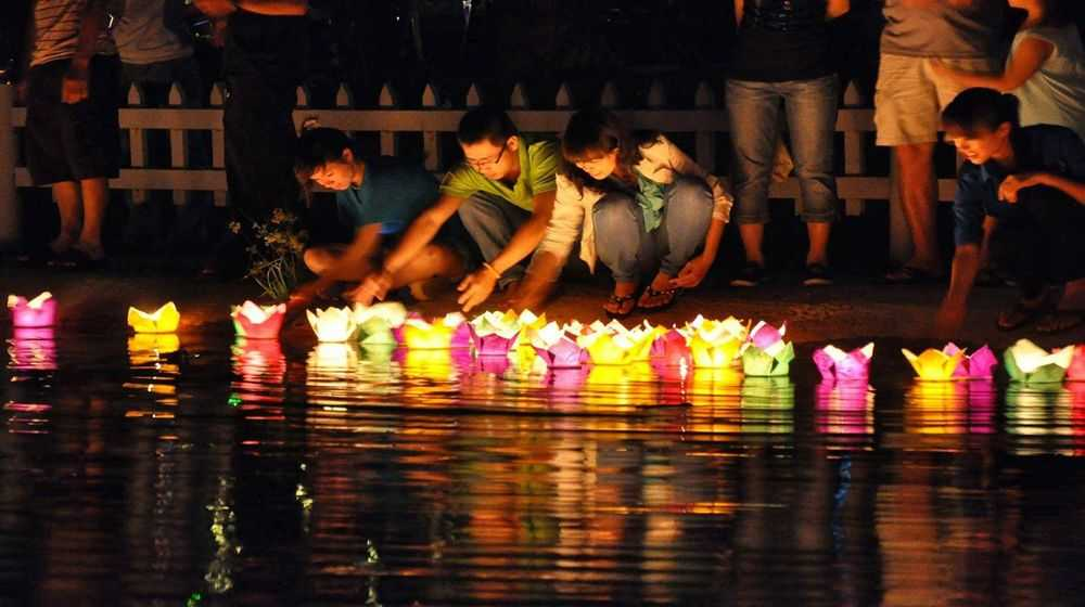 Floating Lanterns on Hoai River