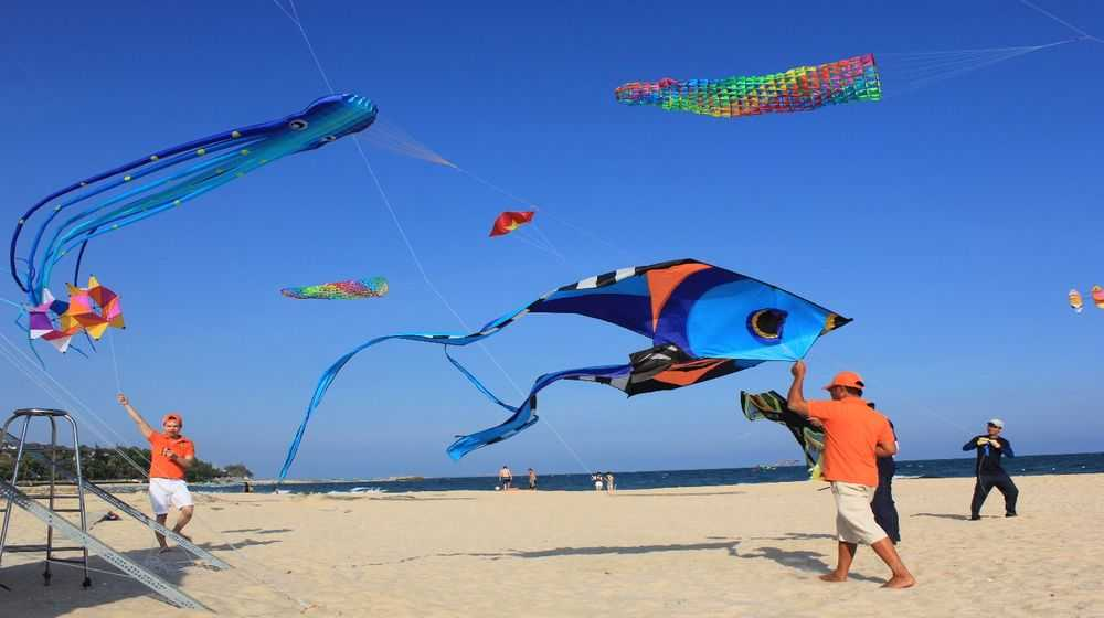 Fly a kite festival in Mui Ne