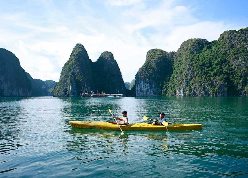 Kayaking in Lan Ha Bay (Best Spots For Kayaking in Vietnam)