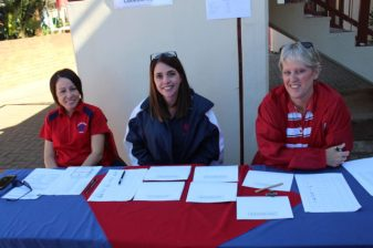 Hudson Park Primary School staff members;Kim Farr,Robin Heaton,Glenda Goosen-Staff