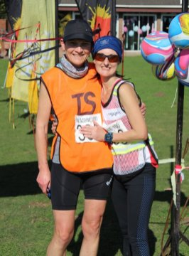 GIRL POWER: Cornel Metcalfe (Carletonville Harriers), left, and Marsha Muller (Mr Price) were the second and first women respectively to complete the 100 Washie
