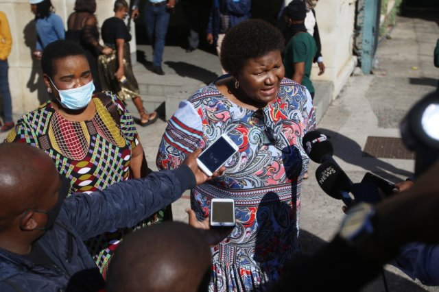 Former Eastern Cape health MEC Sindiswa Gomba speaks to the Media after a brief court appearance over for the Mandela funeral scandal. Image: Michael Pinyana