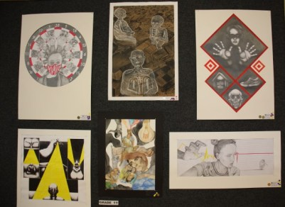 A collection of artwork by grade 11 pupils Picture: MATTHEW FIELD