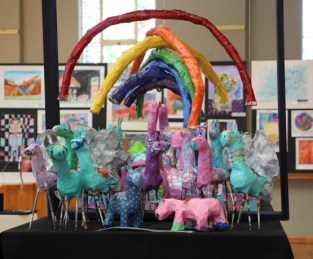 MAGIC'S IN THE AIR: 'A little bit of rainbow magic' by grade 1 and 2 pupils at Stirling Primary School