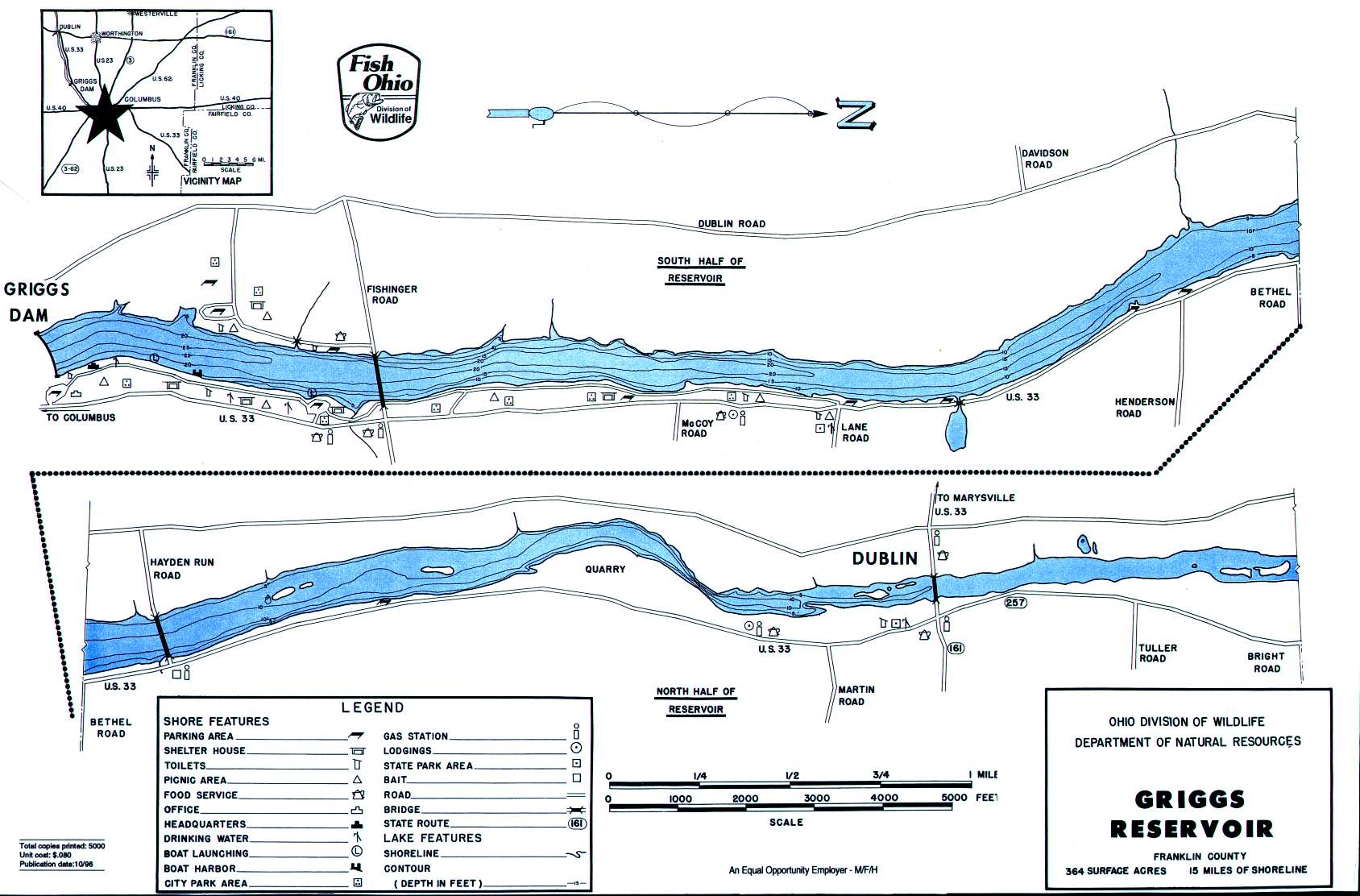 Indian Lake Map Fishing Ohio